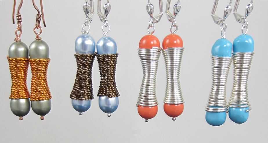 Hourglass and Pearl Earrings